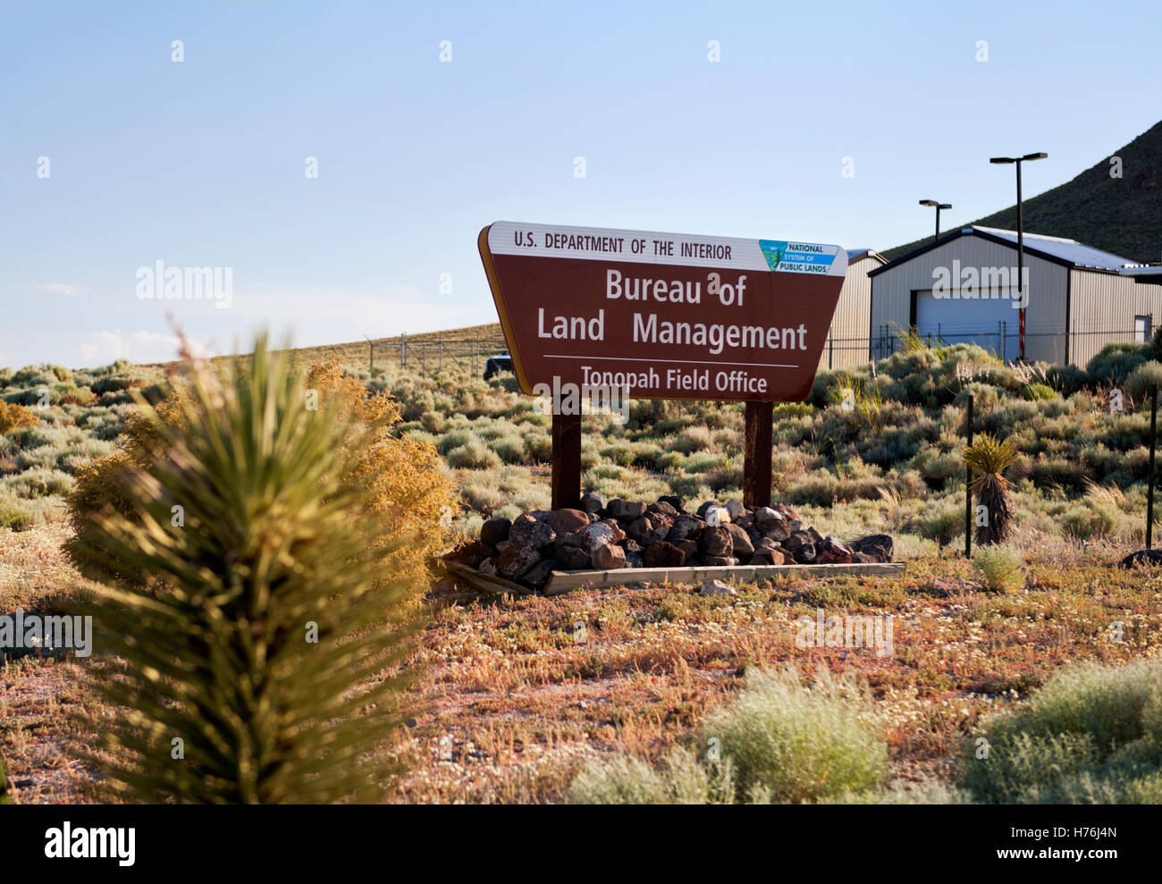 Bureau of Land Management, Tonopah Nevada Field Office - Stock Image