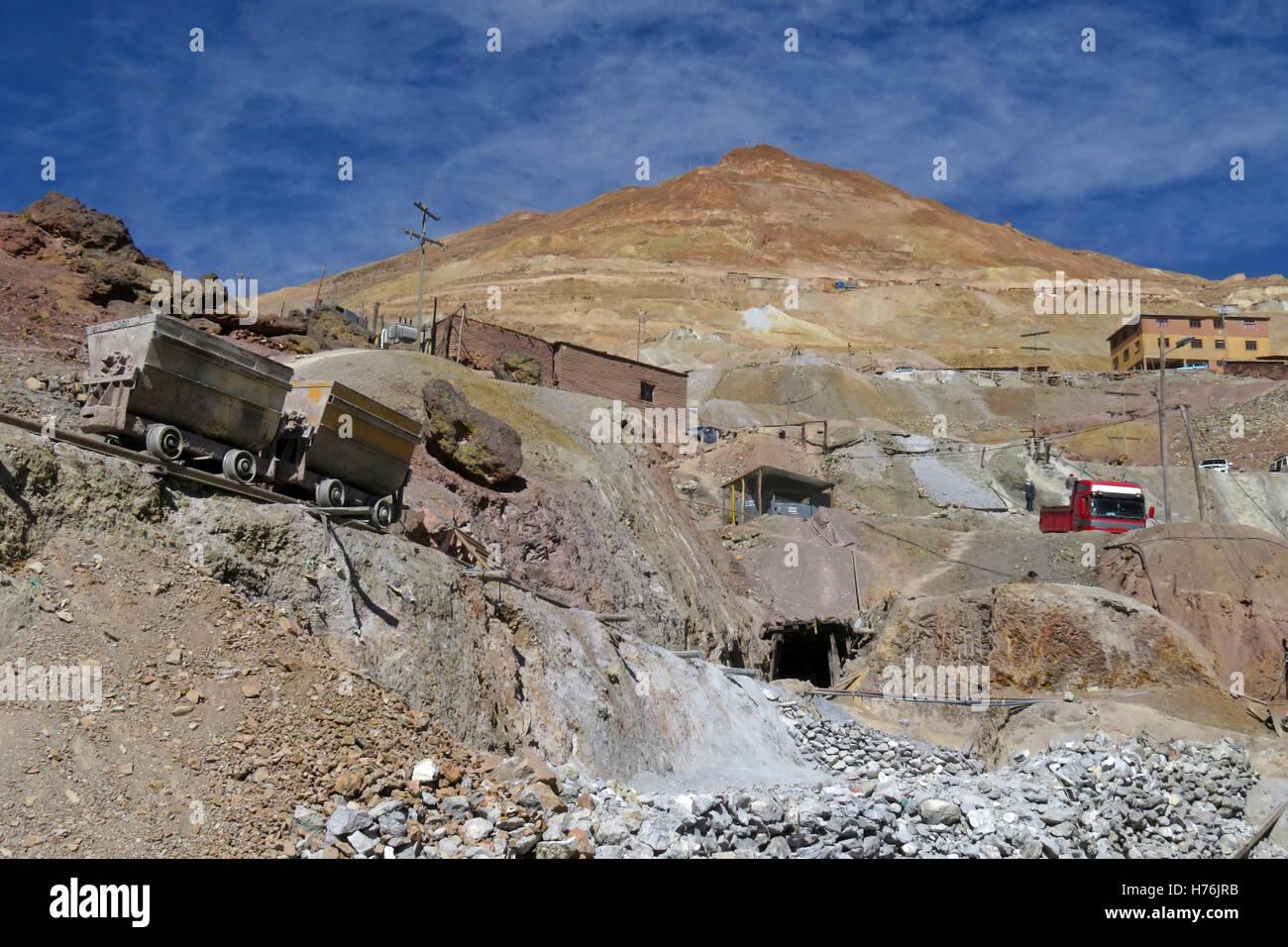 Silver mines of cerro Rico, Potosi Bolivia - Stock Image