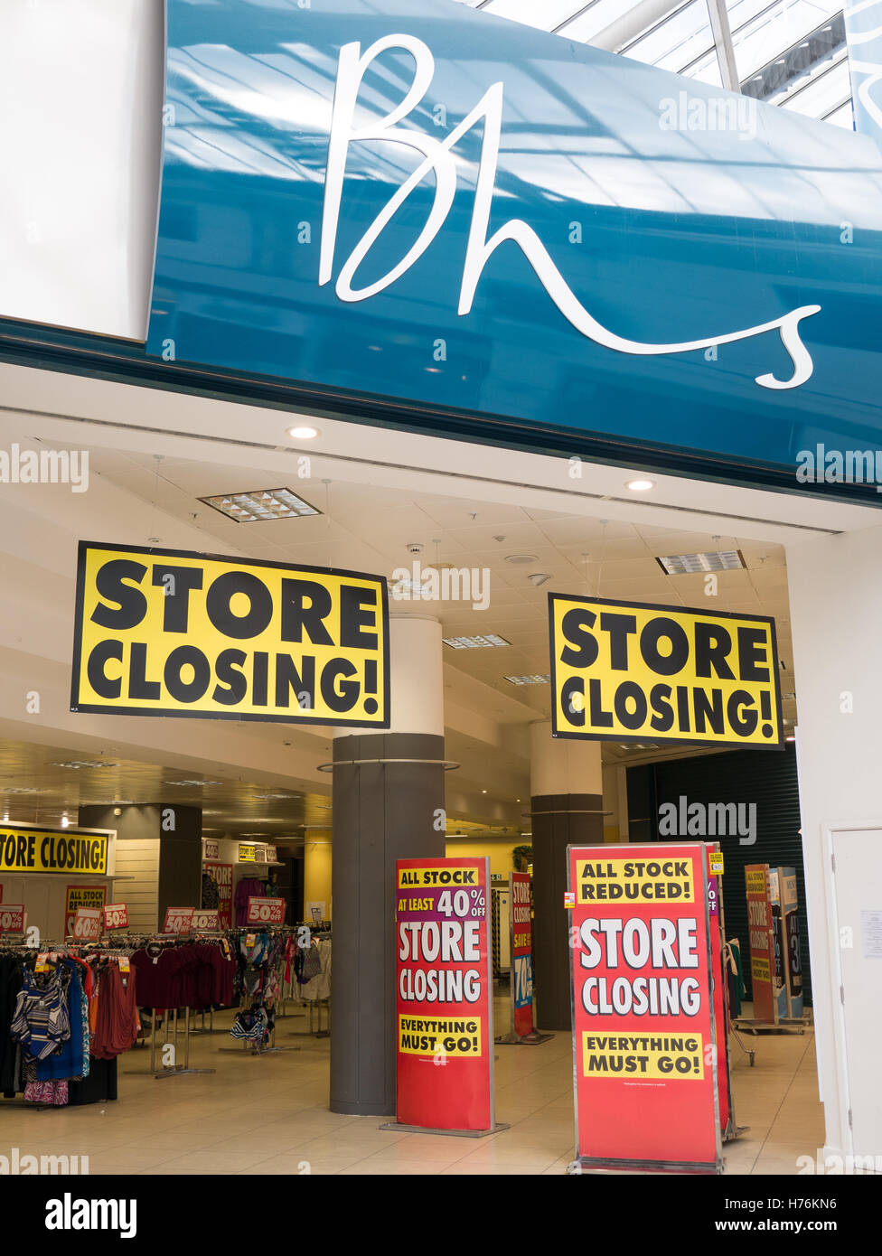 BHS store closing down - Stock Image