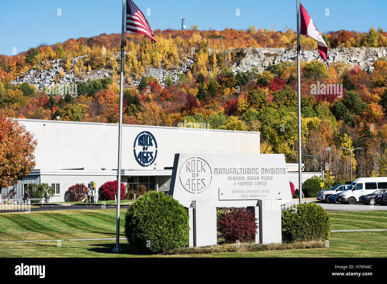 Rock of Ages corporate office, Barre, Vermont, USA. - Stock Image