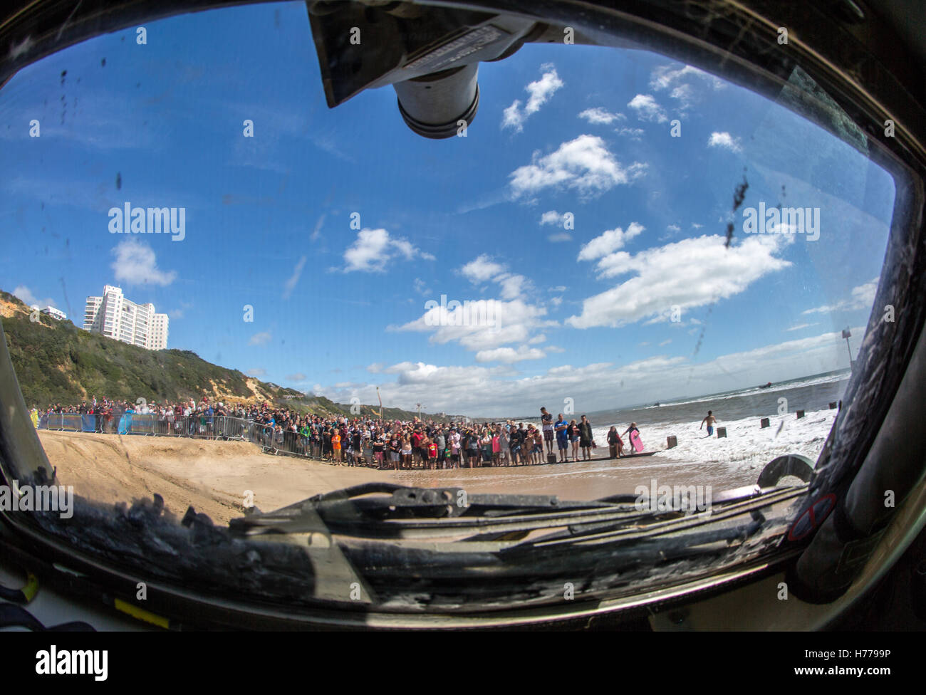 On the beach at Bournemouth Air Festival 2016 - Stock Image
