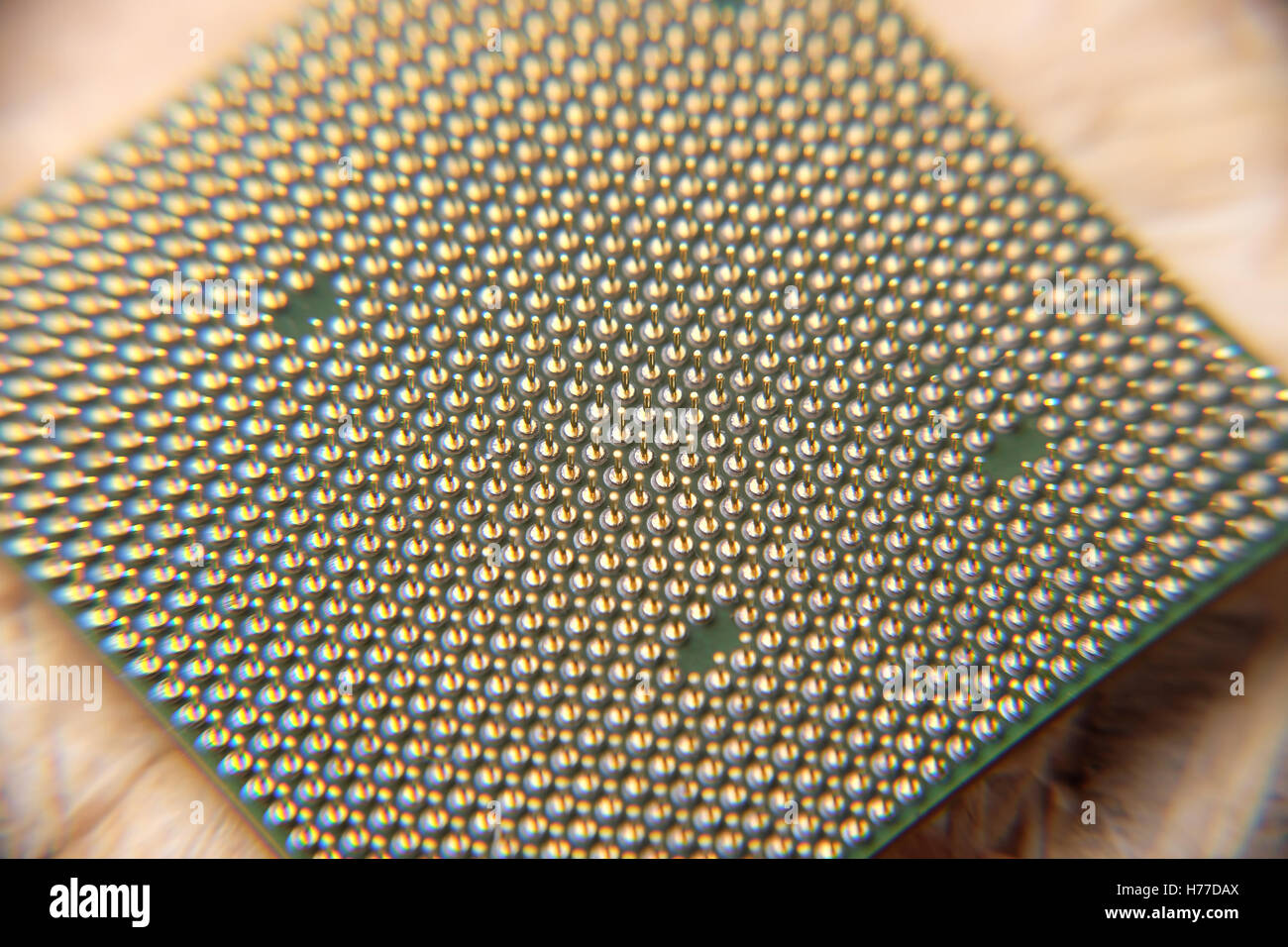 Macro shot of central processing unit CPU - Stock Image