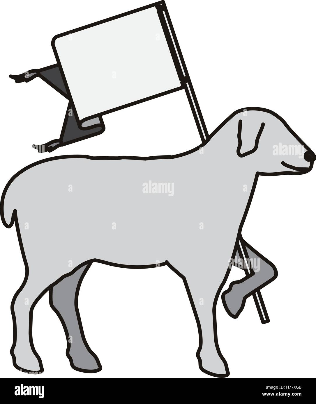 The Lamb Of God Stock Vector Images Alamy