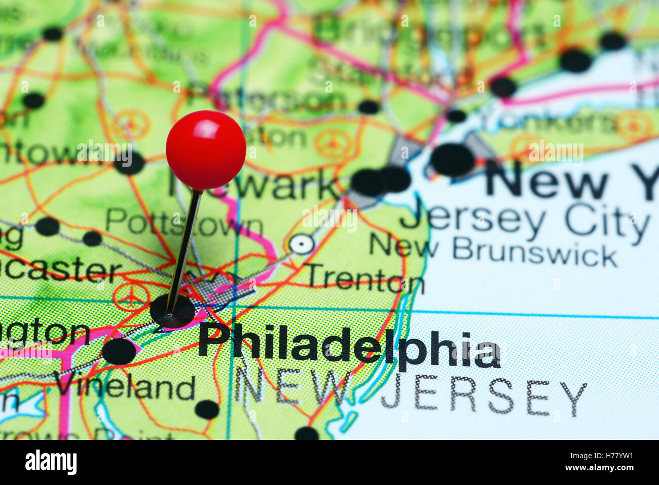 philadelphia in map of usa Philadelphia Pinned On A Map Of Pennsylvania Usa Stock Photo Alamy philadelphia in map of usa