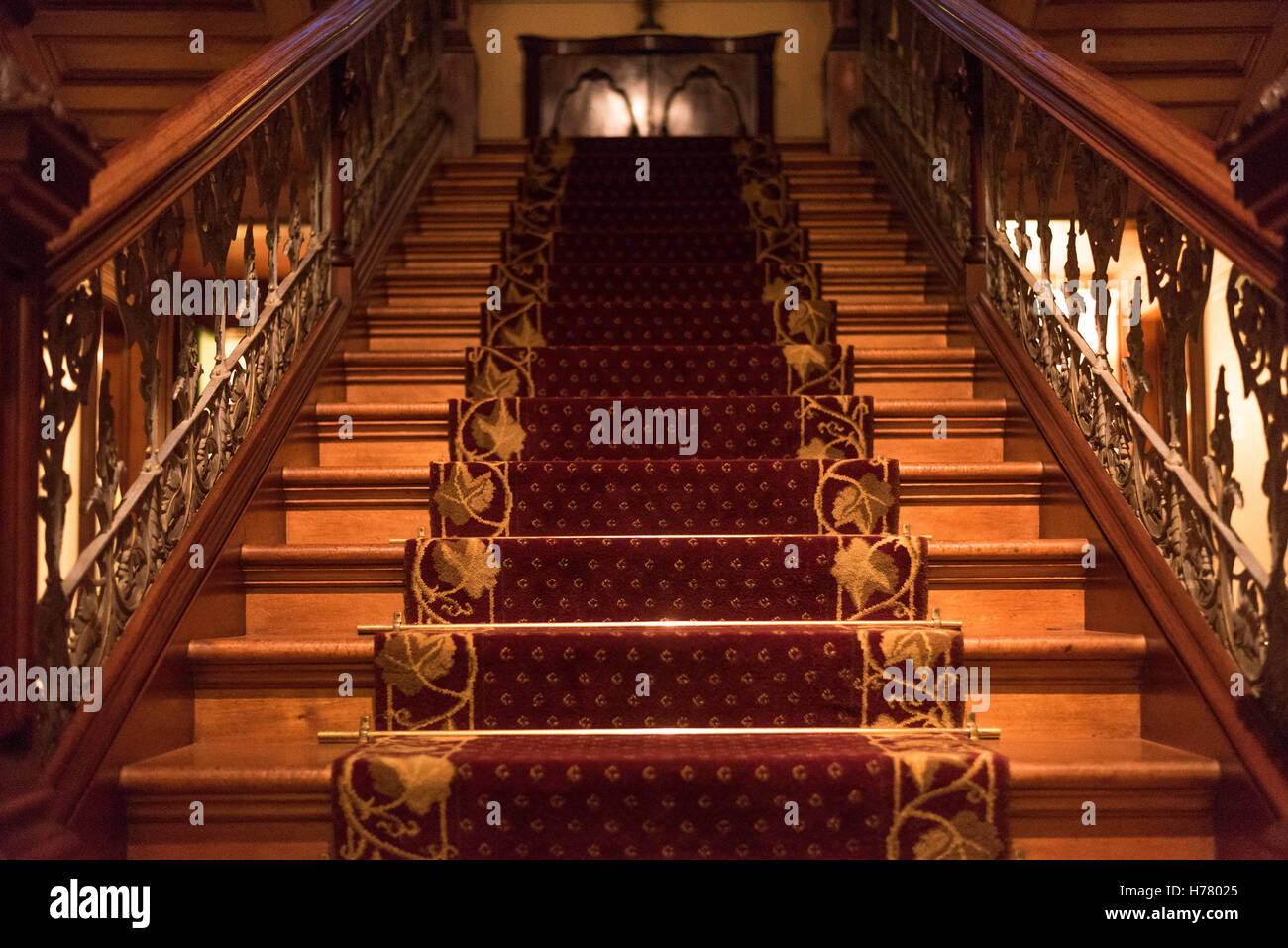Staircase Of A Historical Mansion