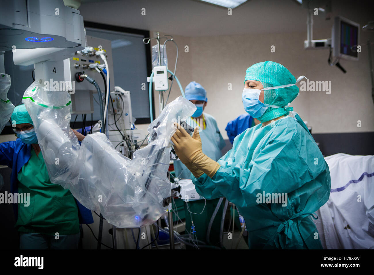 ROBOT-ASSISTED SURGERY Stock Photo