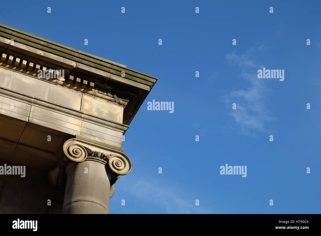 Architectural detail of the former Curzon Street Station, Birmingham, UK - Stock Image