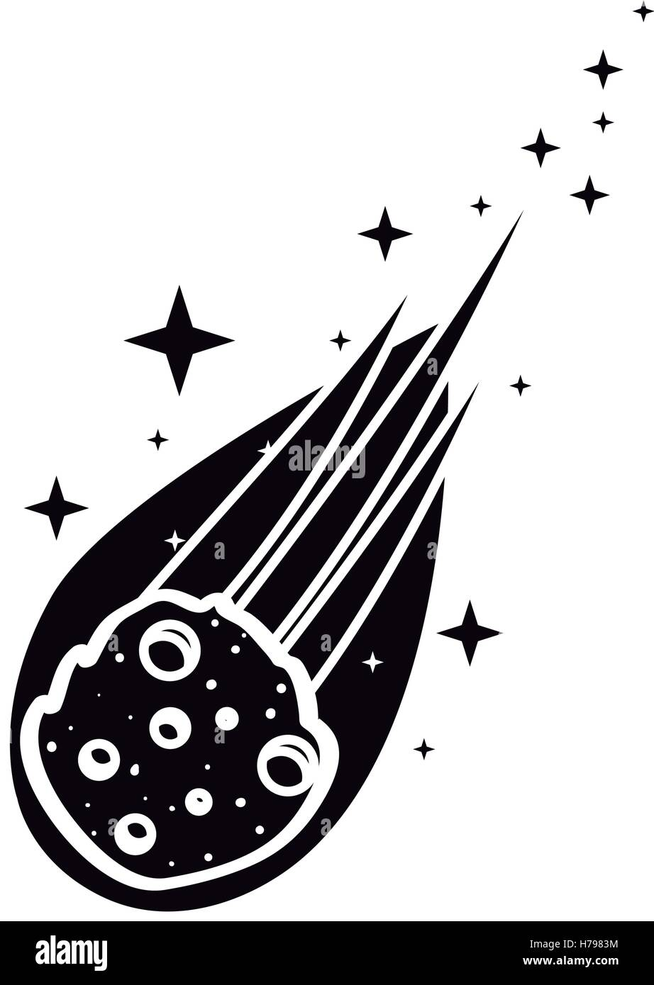 flame meteorite icon over white background. vector illustration - Stock Image