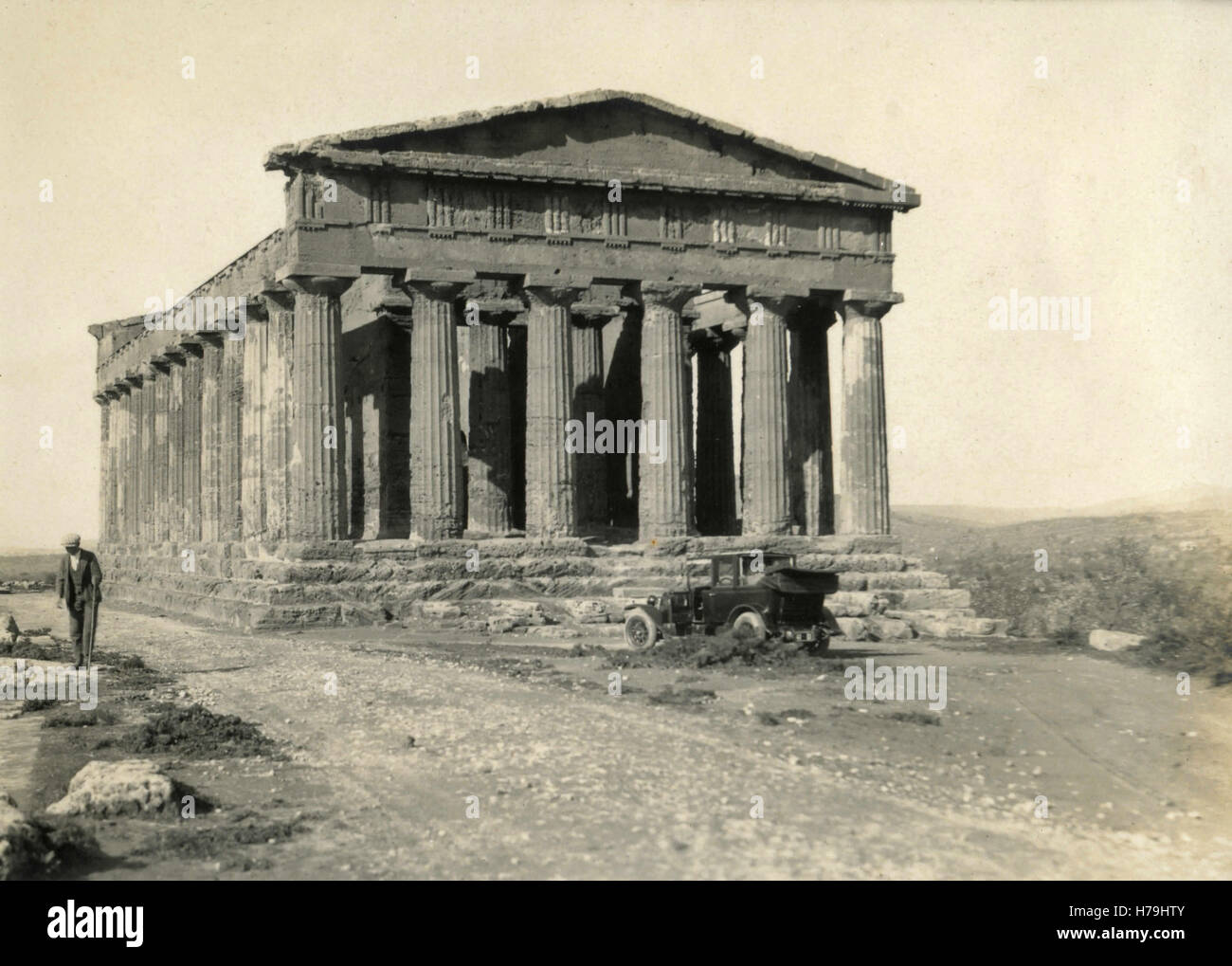 Temple of Concord, Girgenti, Italy - Stock Image