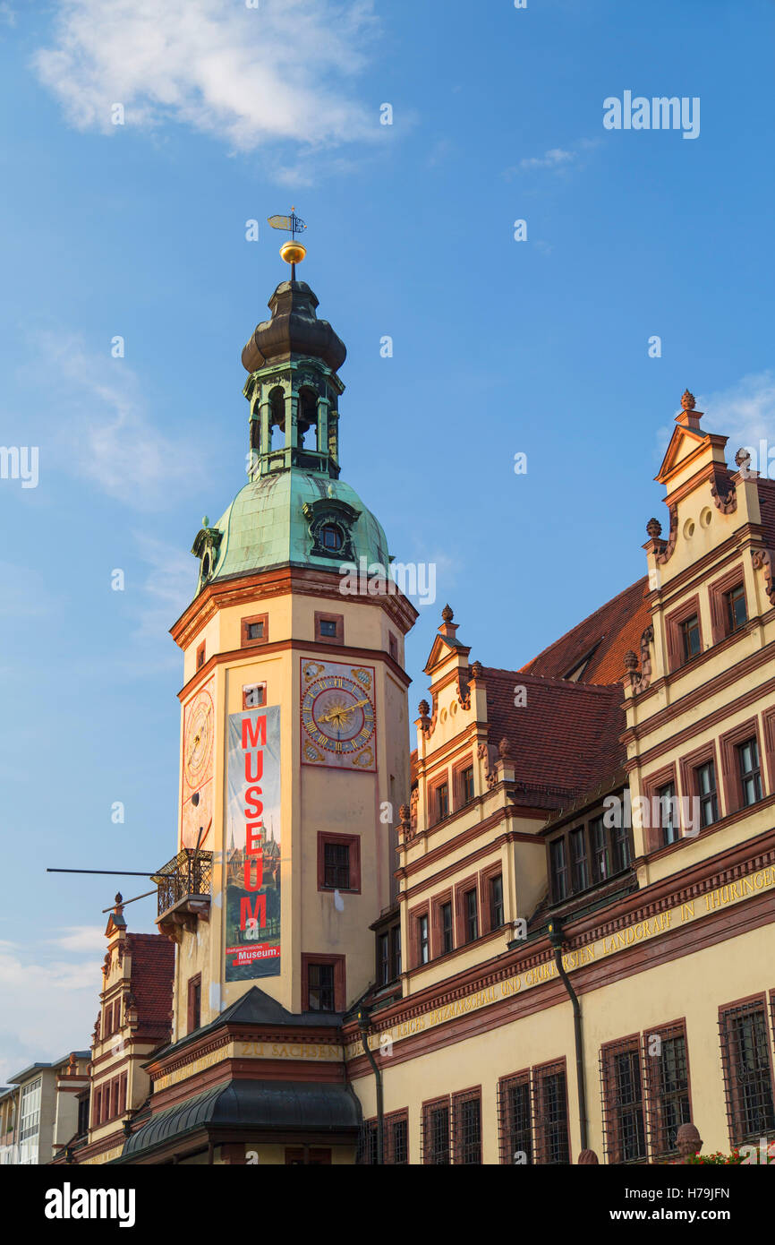 Old Town Hall (Altes Rathaus), Leipzig, Saxony, Germany - Stock Image