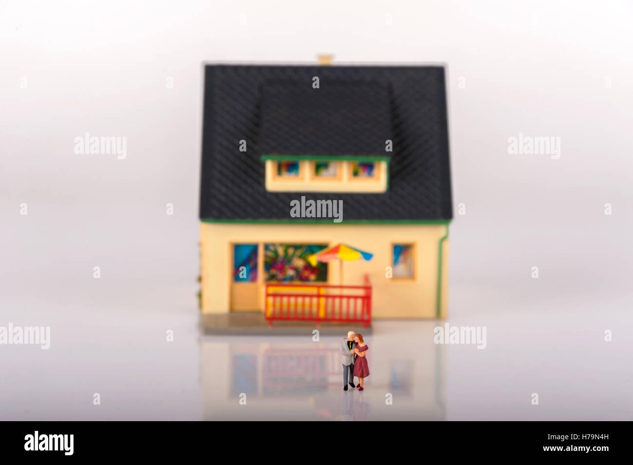 Miniature people house - Stock Image