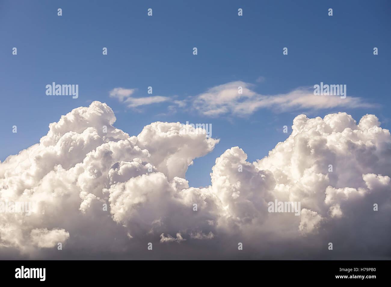beautiful cloudscape with cumulonimbus clouds and blue sky - Stock Image
