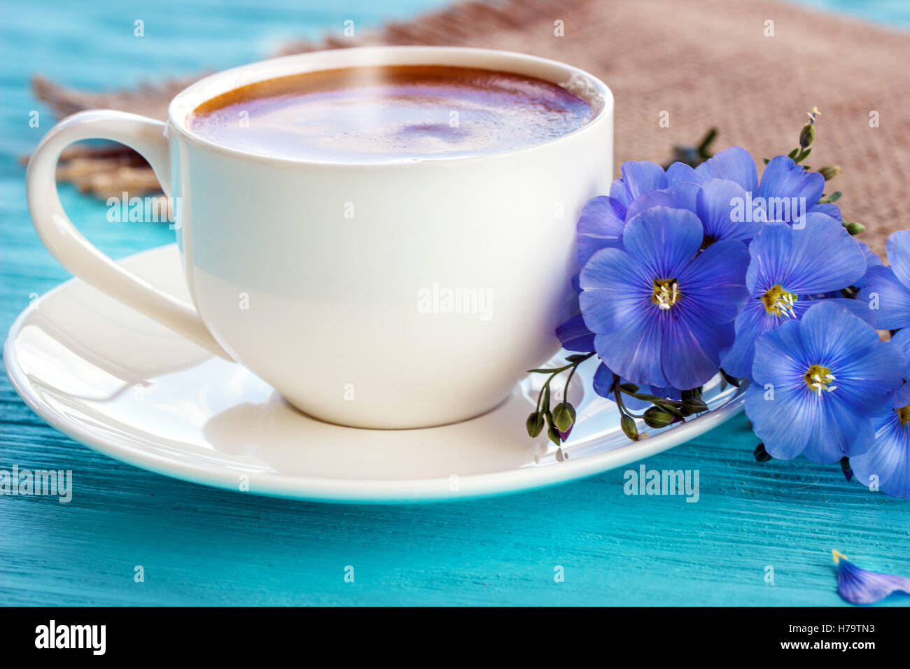 Good Morning Coffee White Wooden Stock Photos Good Morning Coffee