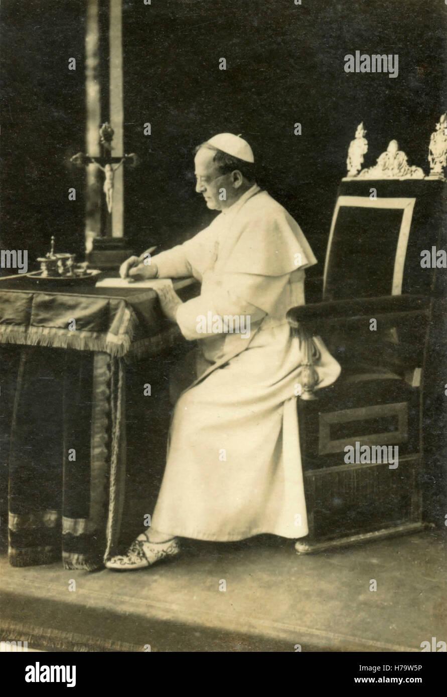 Pope Pius XI, Vatican City Stock Photo