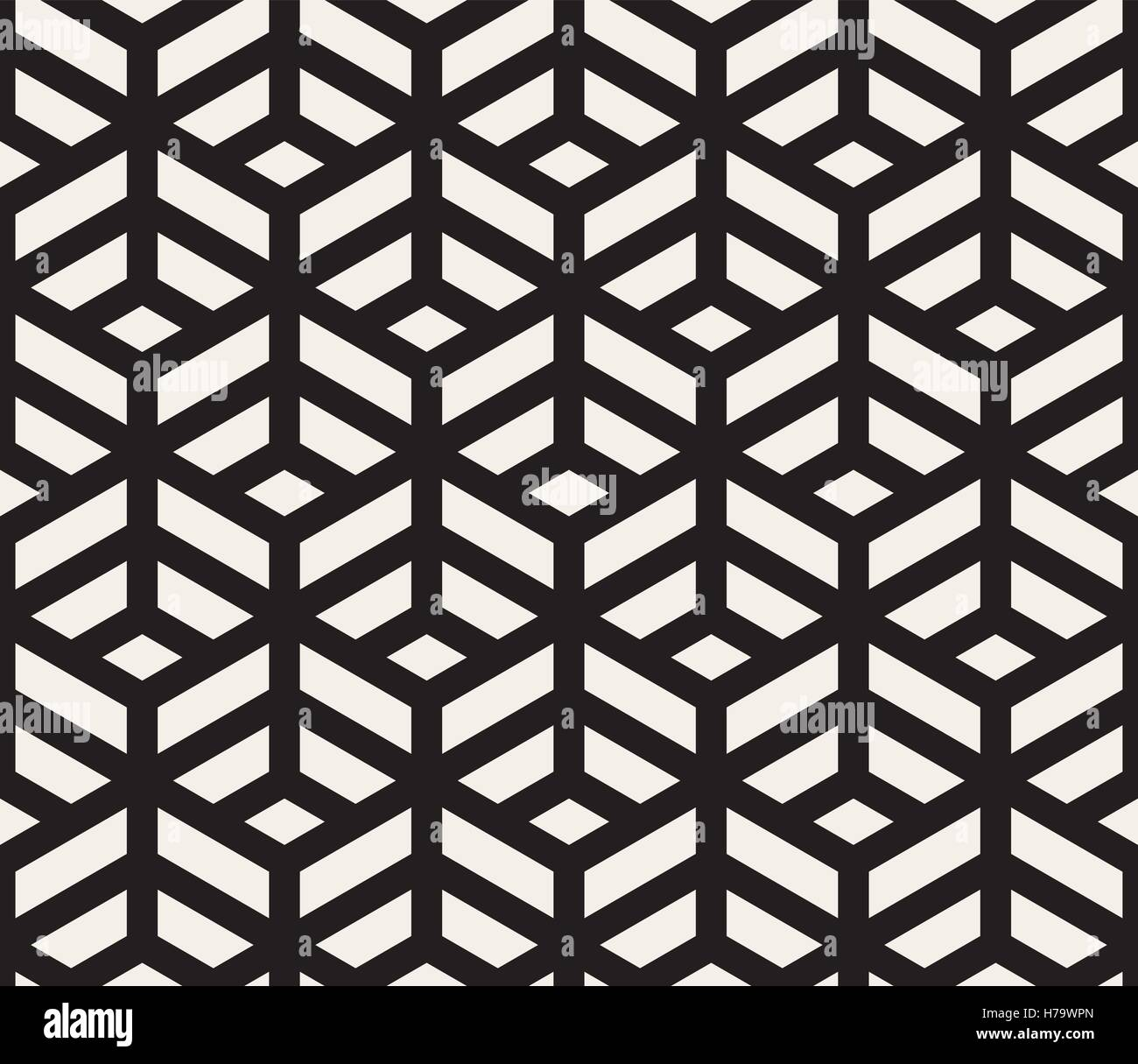 Vector Seamless Black and White Geometric Tiling Pattern Line Stock ...
