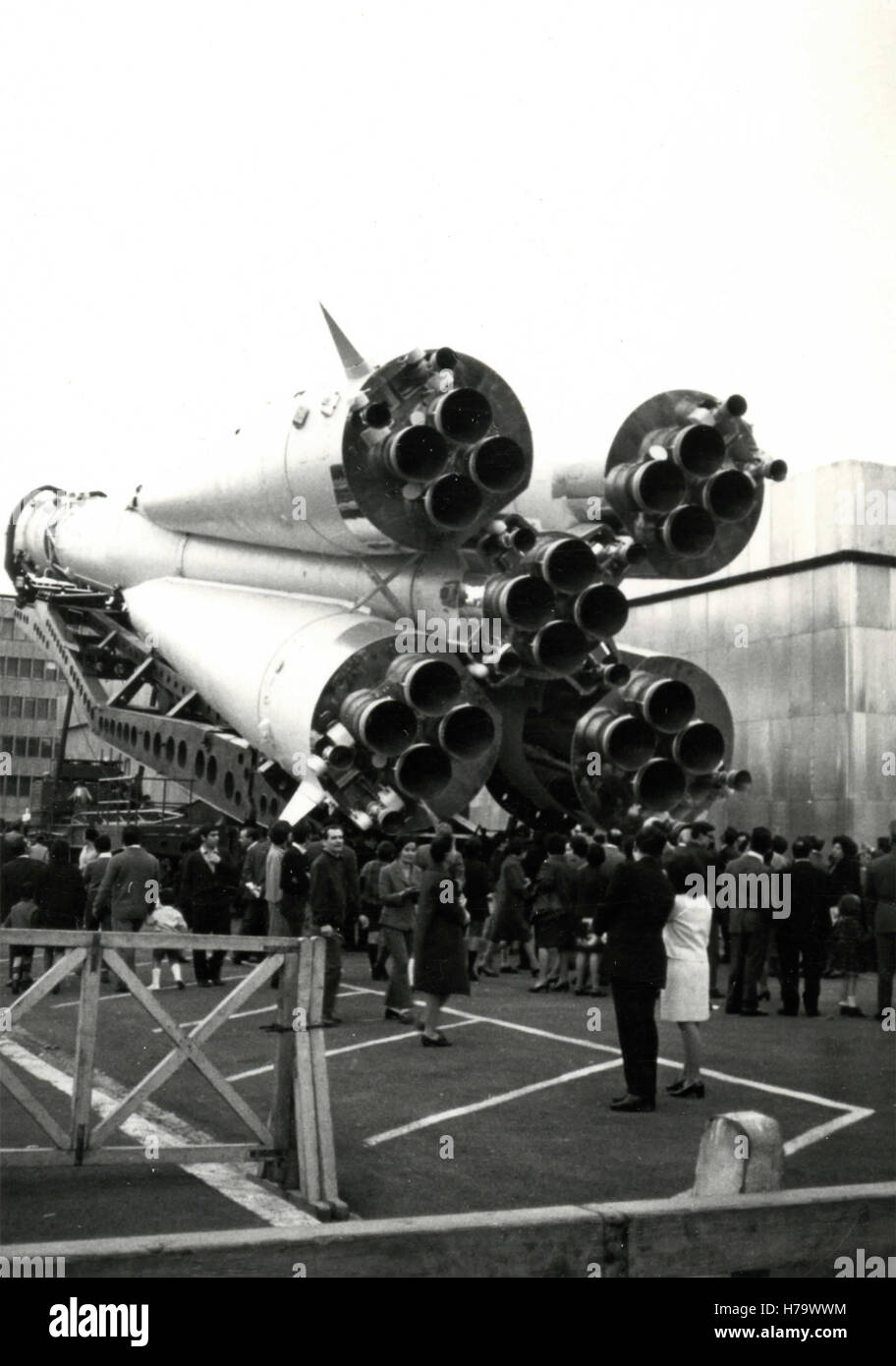 The exhausts of a Boctok rocket, USSR - Stock Image