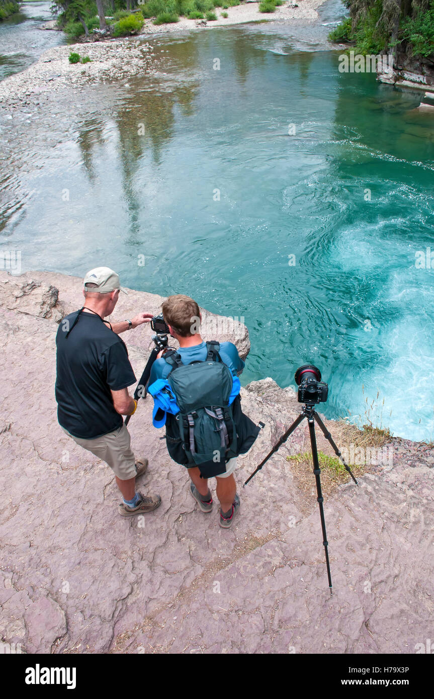 Nature photographers on site - Stock Image