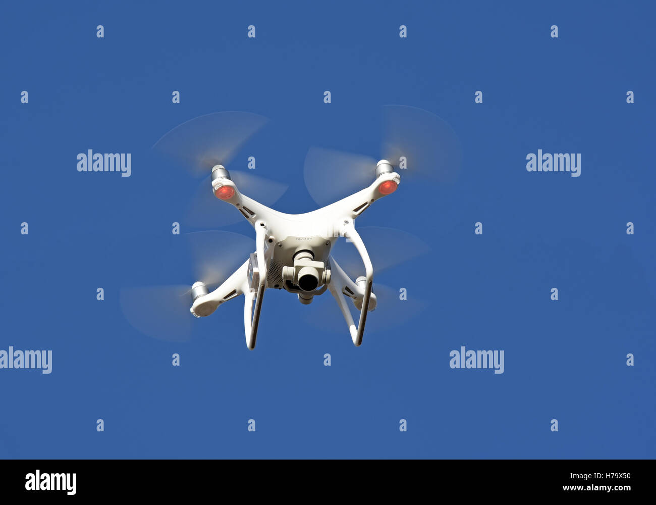 Drone hover in mid air - Stock Image