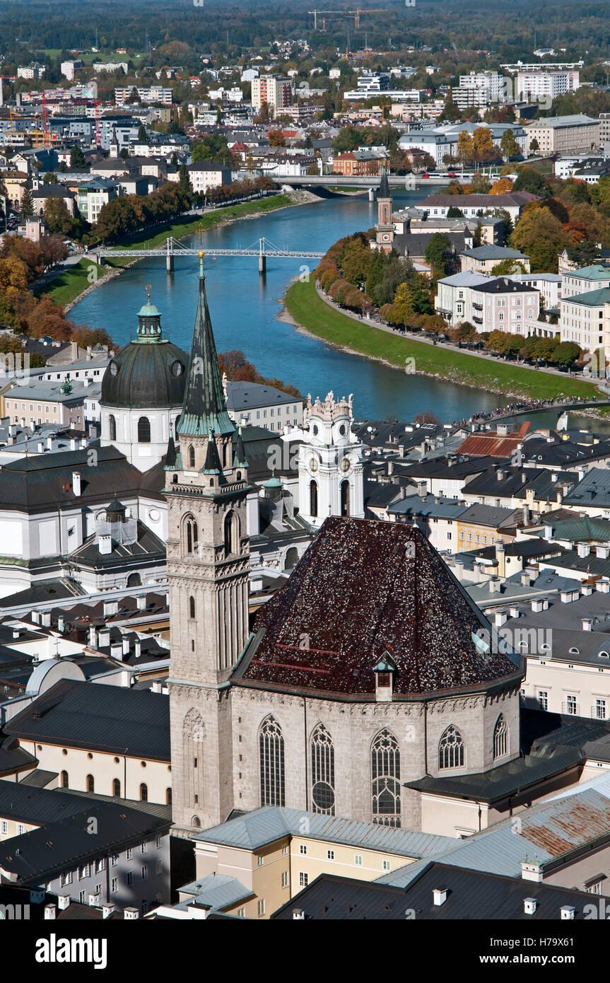 Saltzburg, Austria - vertical view - Stock Image