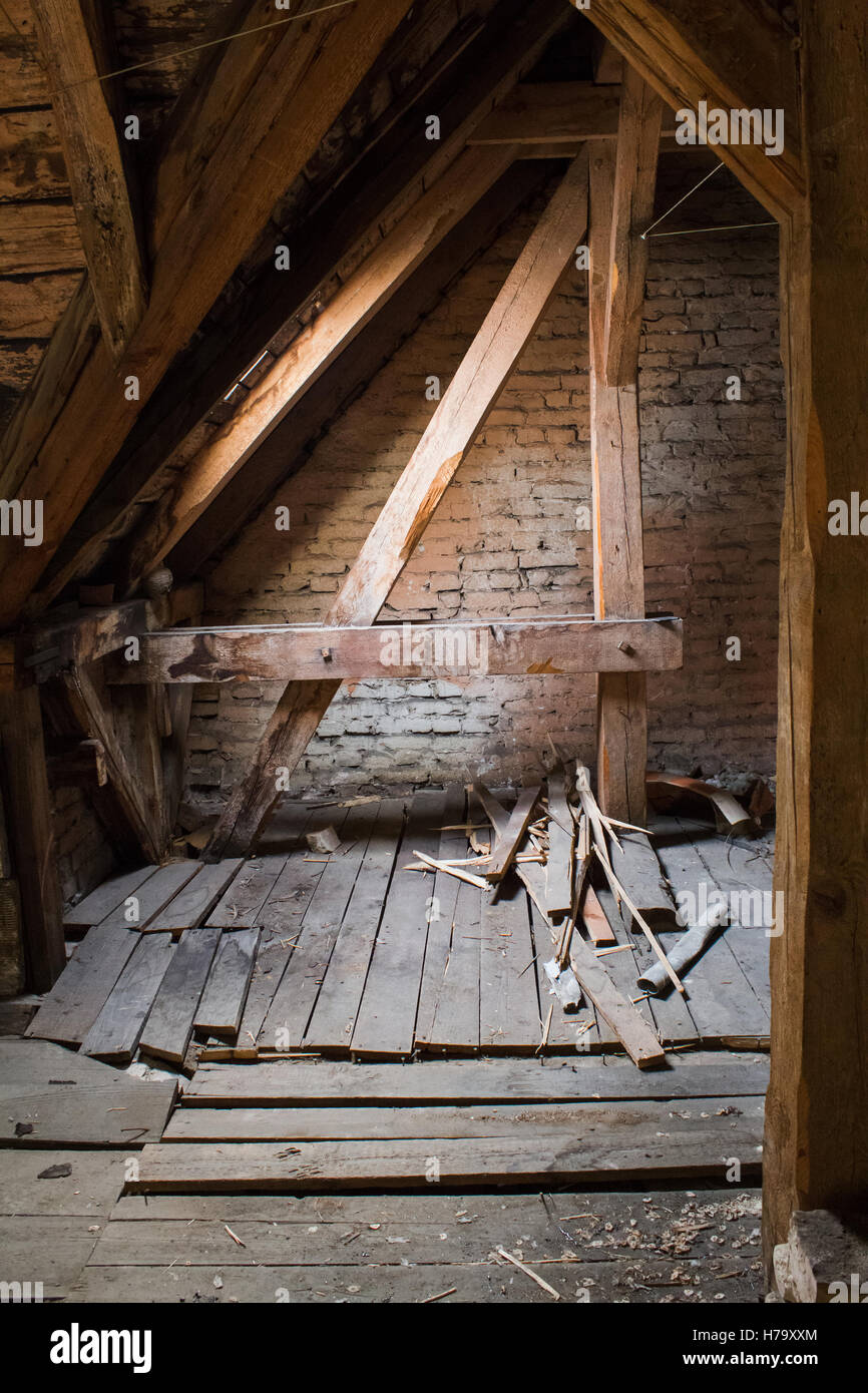 Abandoned Attic In Old House Stock Photos Amp Abandoned