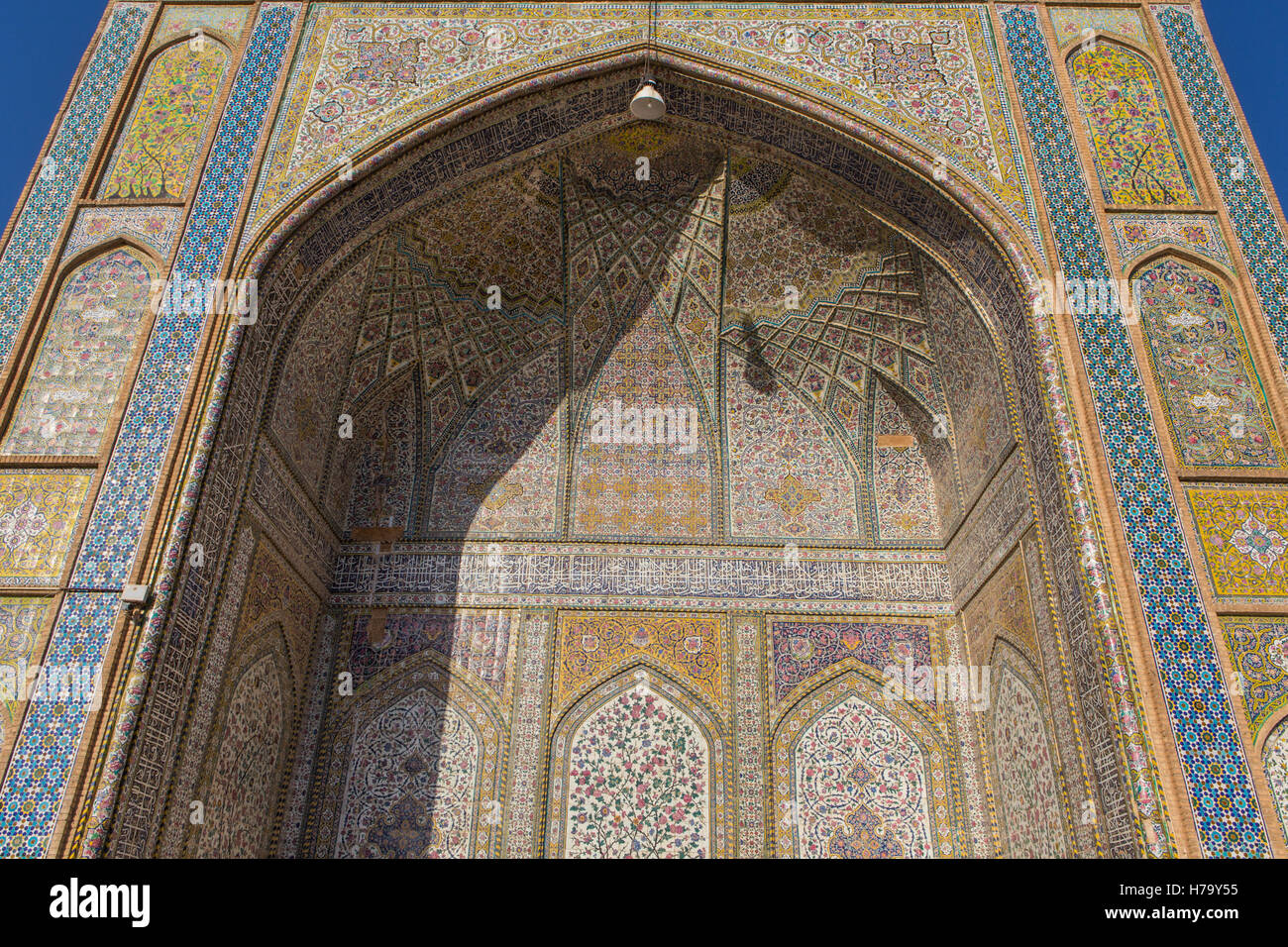 pattern on arch at mosque in iran - Stock Image