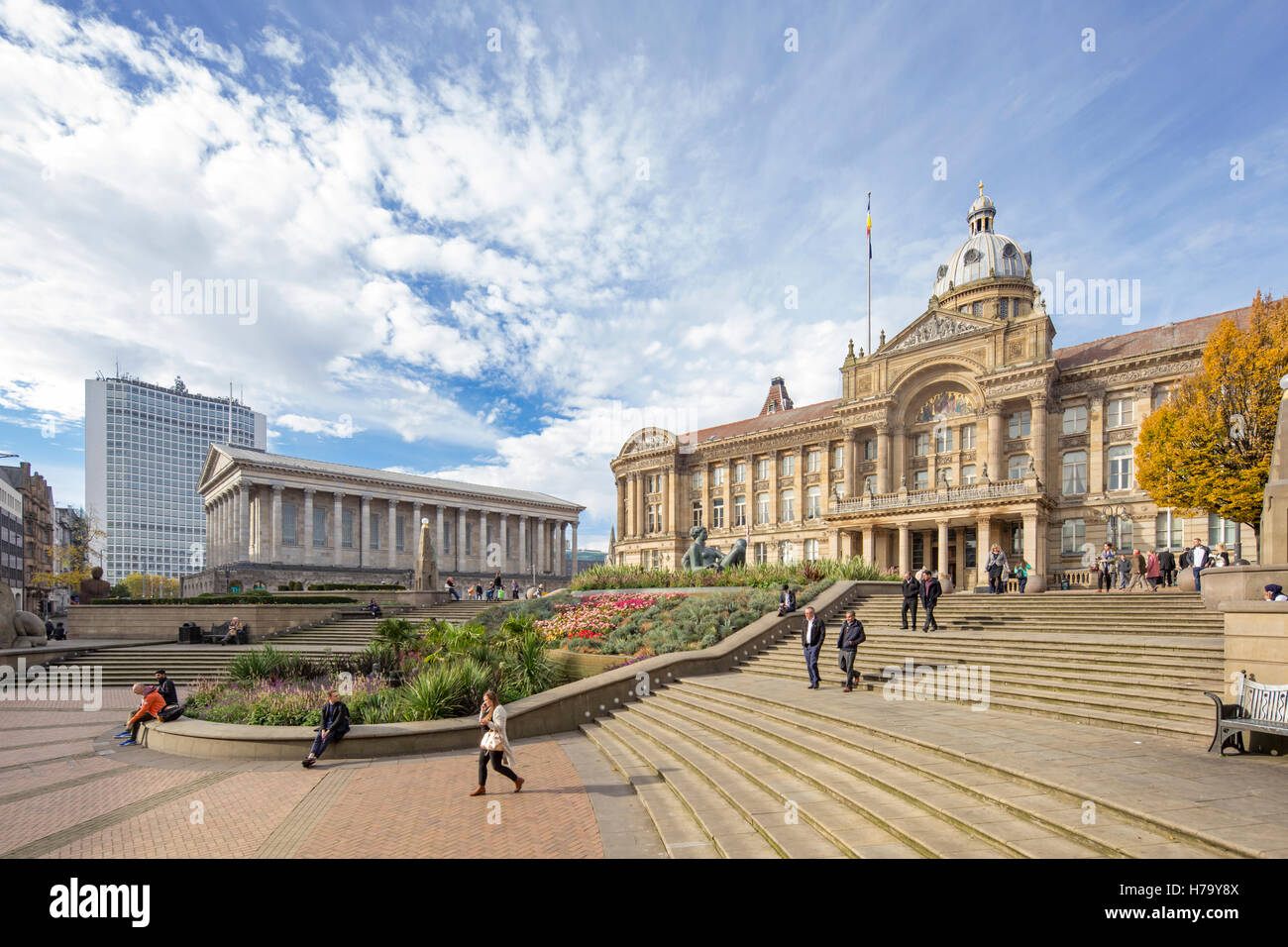 Victoria Square and the Council House building, Birmingham City Centre, Birmingham, England, UK - Stock Image