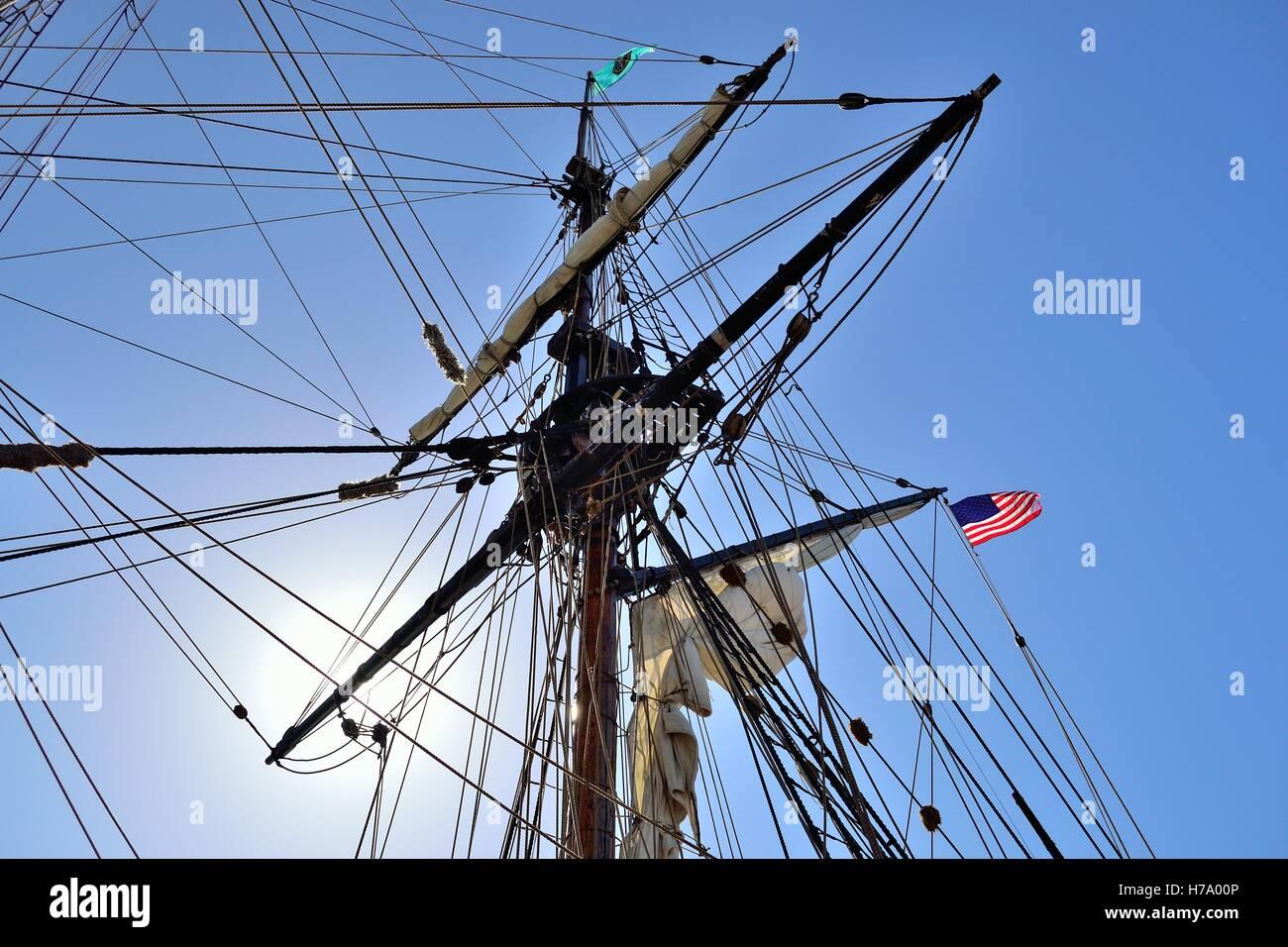 ship mast - Stock Image