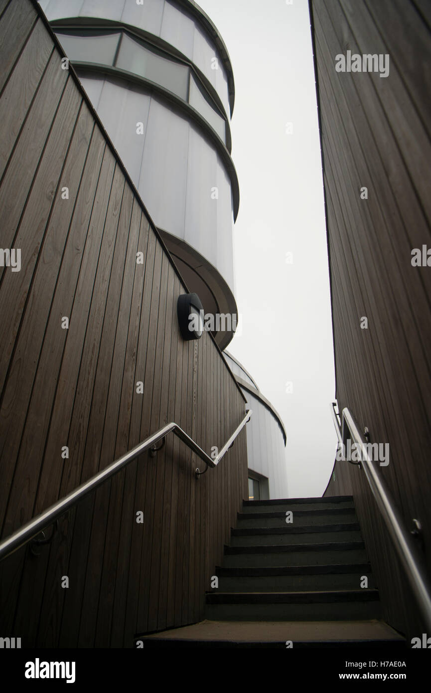 Plas Heli , Welsh National Sailing Academy and Events Centre,, opened in 2015,  designed by Ellis Williams Architects,. - Stock Image