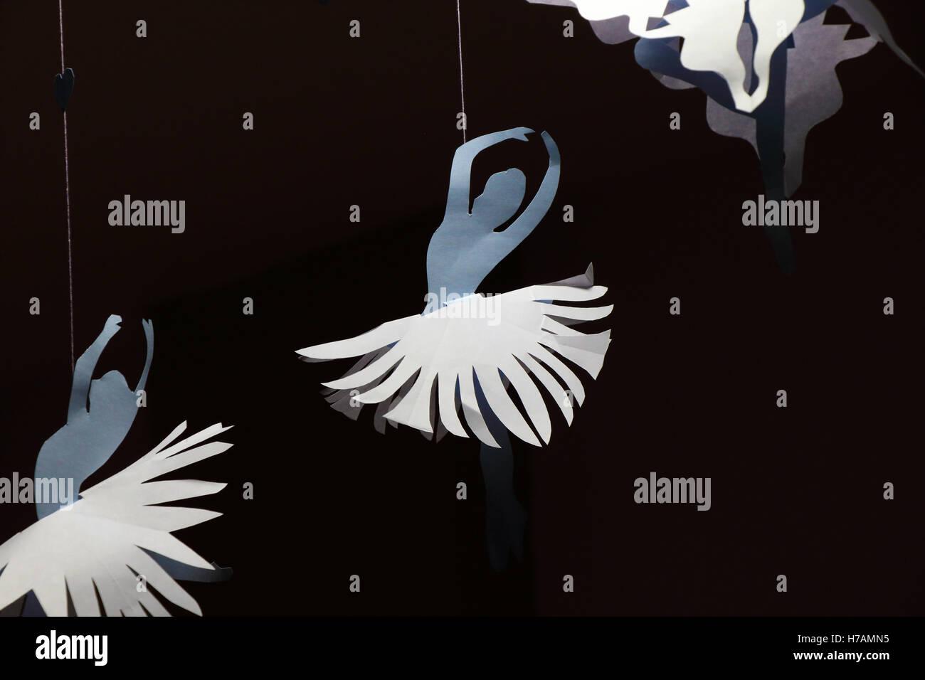 Dancing Girls - Creative Paper Art - Stock Image