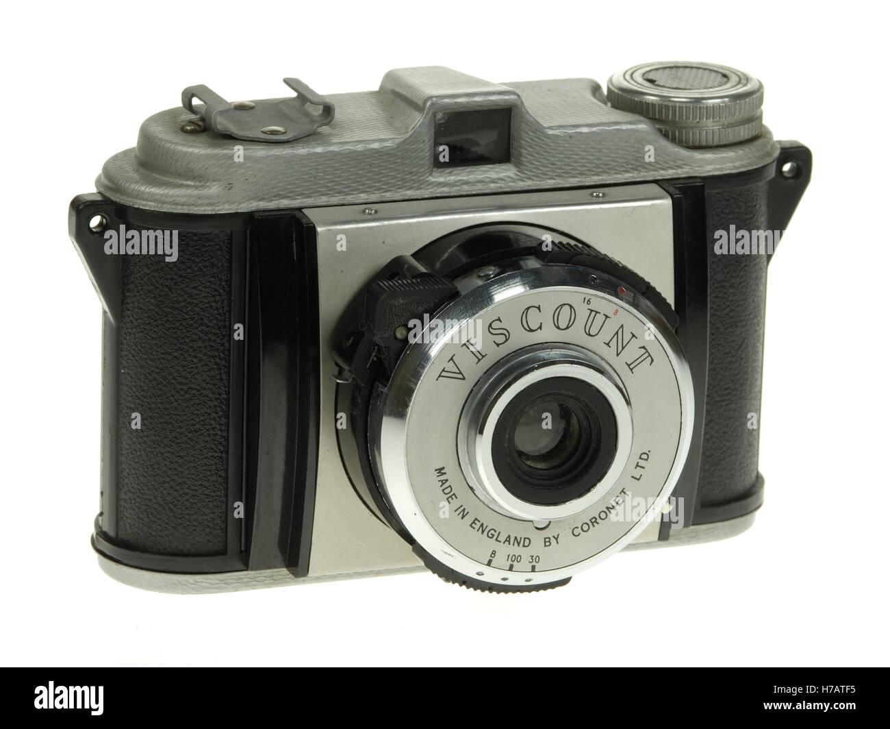 Coronet Viscount eye-level camera for 828 rollfilm. Stock Photo
