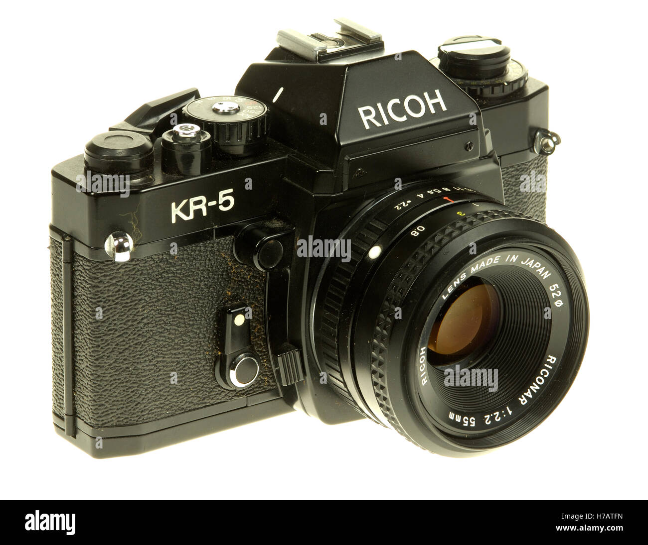 Ricoh KR-5 SLR Camera. - Stock Image