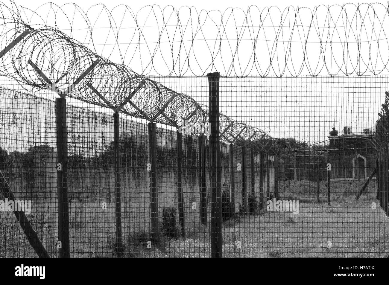 Fencing Wire Black and White Stock Photos & Images - Alamy