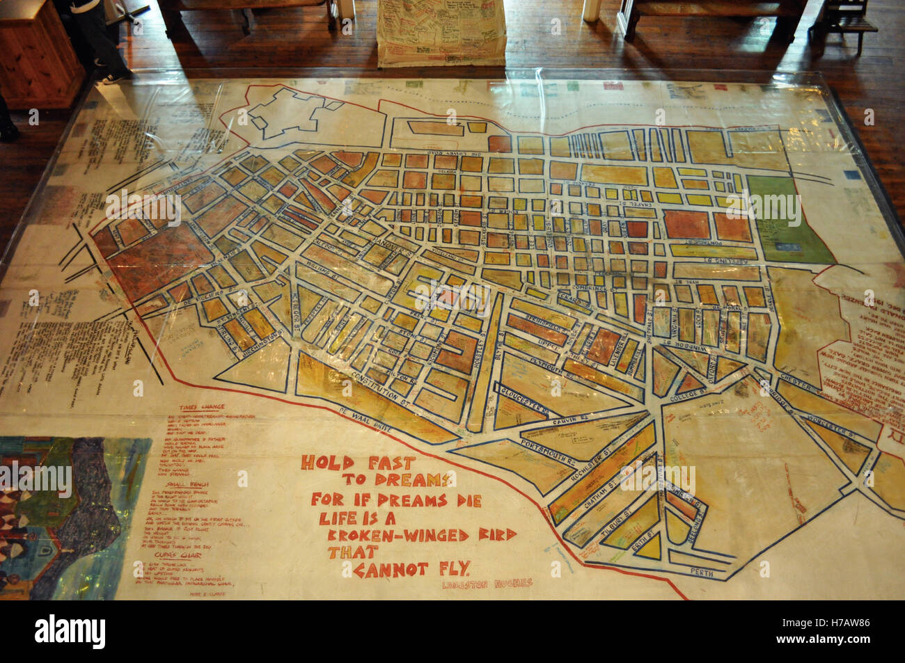 Cape Town the street map of the District Six Museum the memorial
