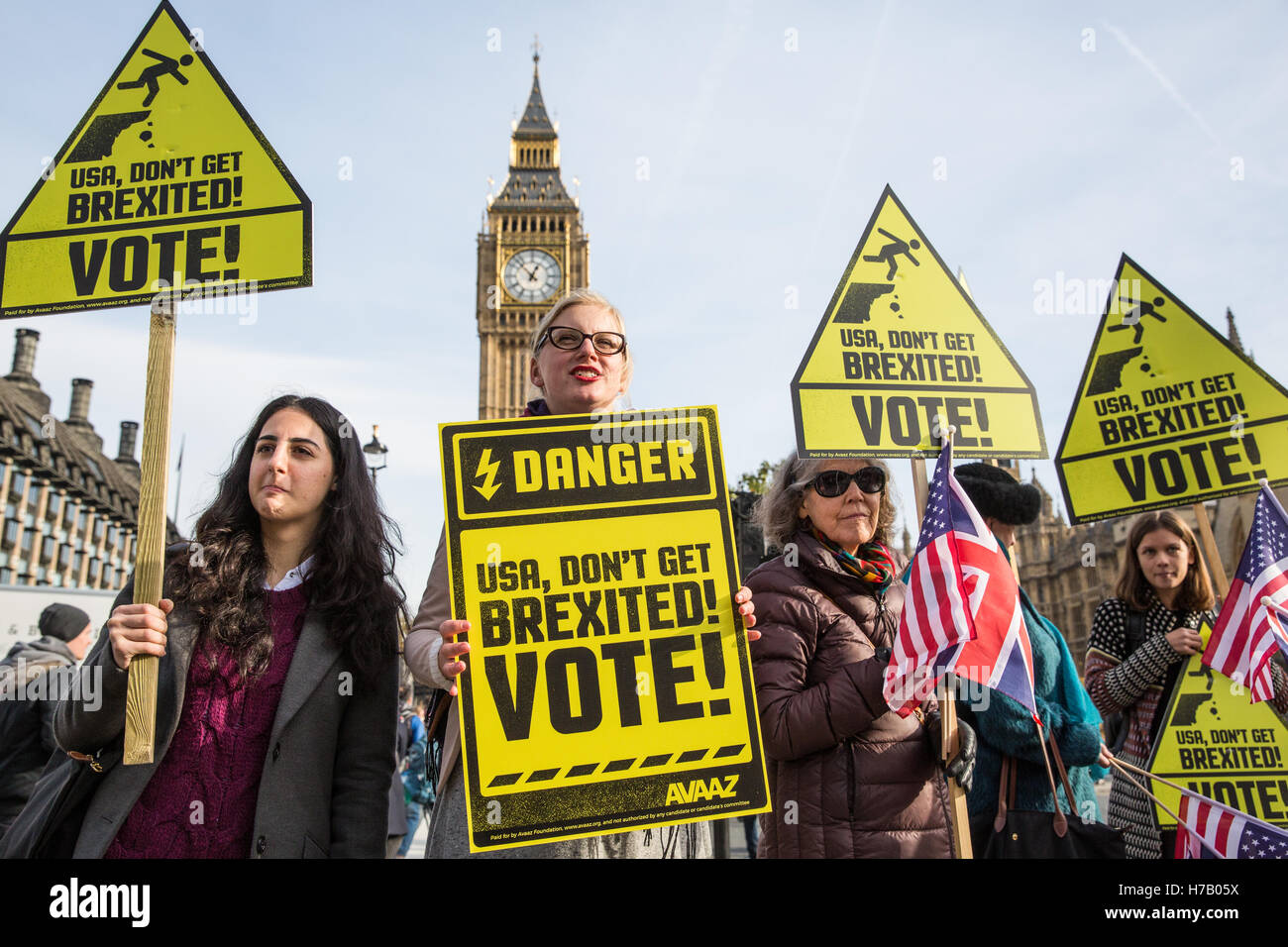 London, UK. 3rd November, 2016. British citizens who regret not having voted in the EU Referendum - which resulted - Stock Image