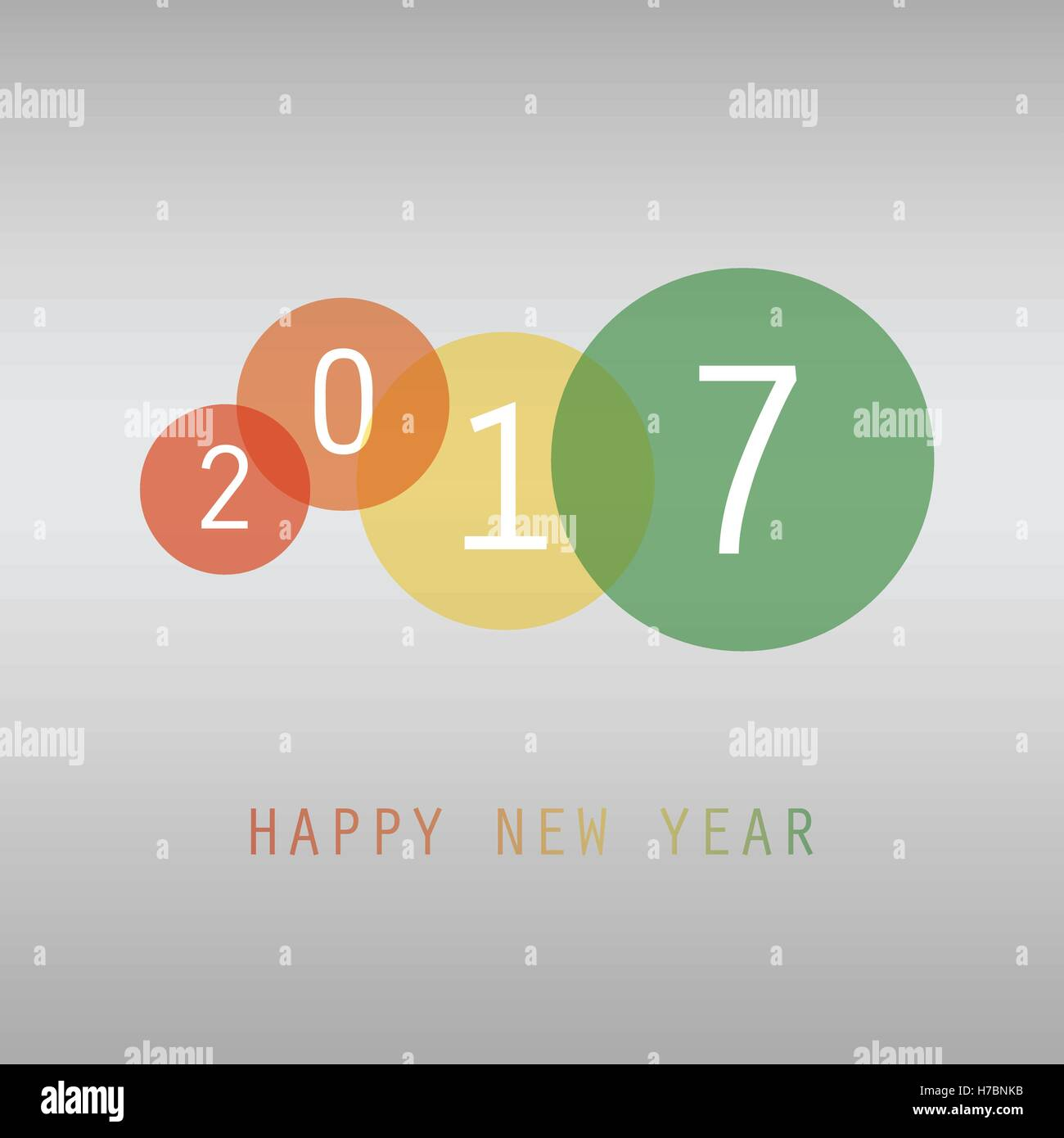 Best Wishes - Colorful Abstract Modern Style Happy New Year Greeting ...