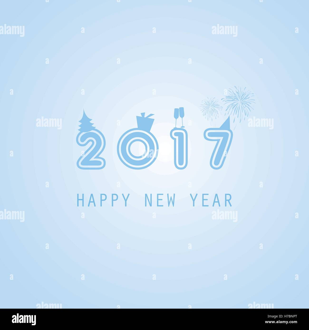 best wishes colorful abstract modern style happy new year greeting card cover or background creative design template 2017
