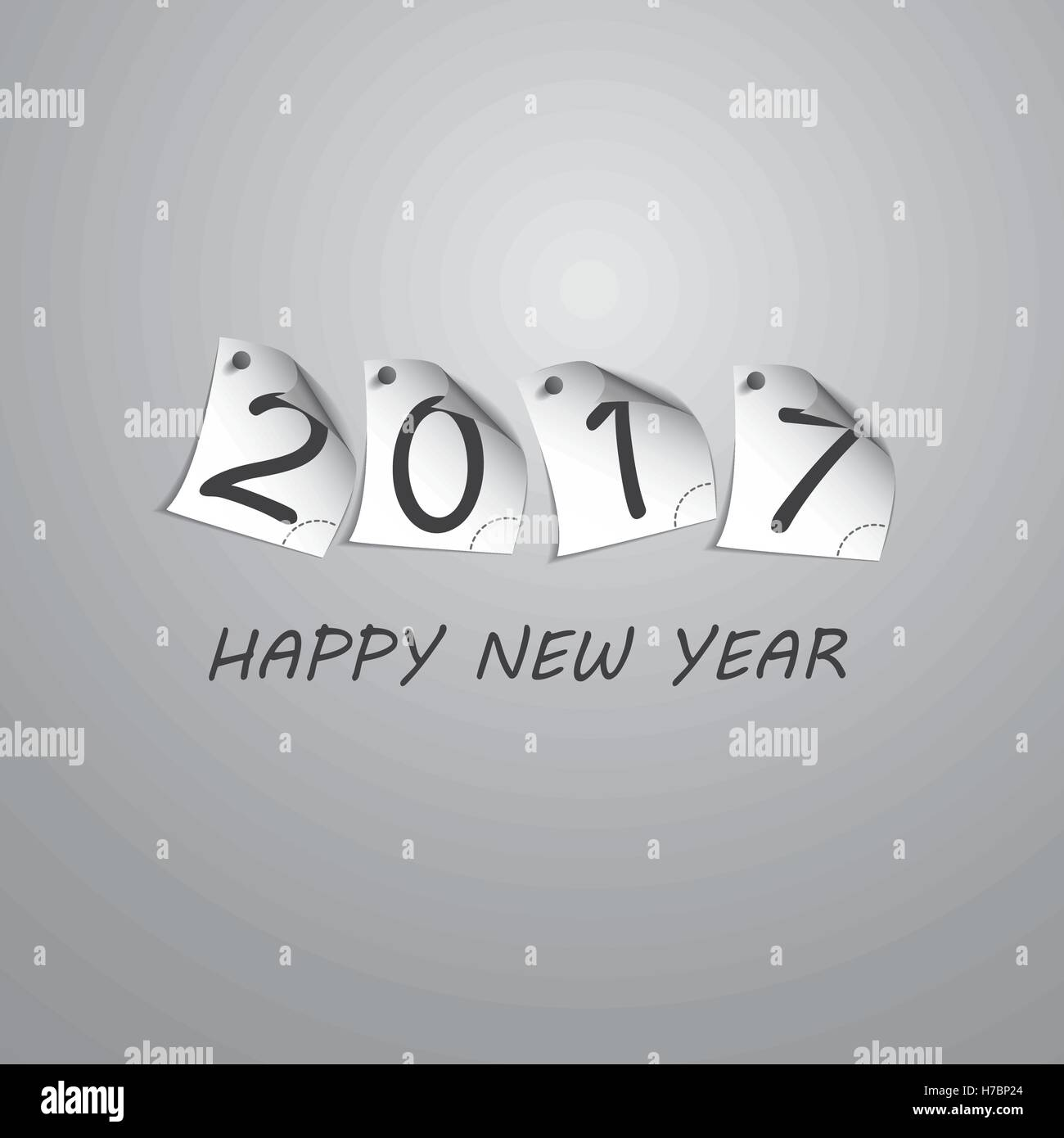 Best Wishes - Abstract Silver Grey New Year Card Template Design ...