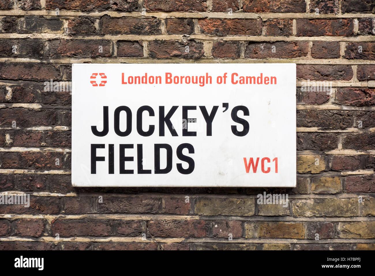 Jockeys Field's, Holborn, London, UK - Stock Image