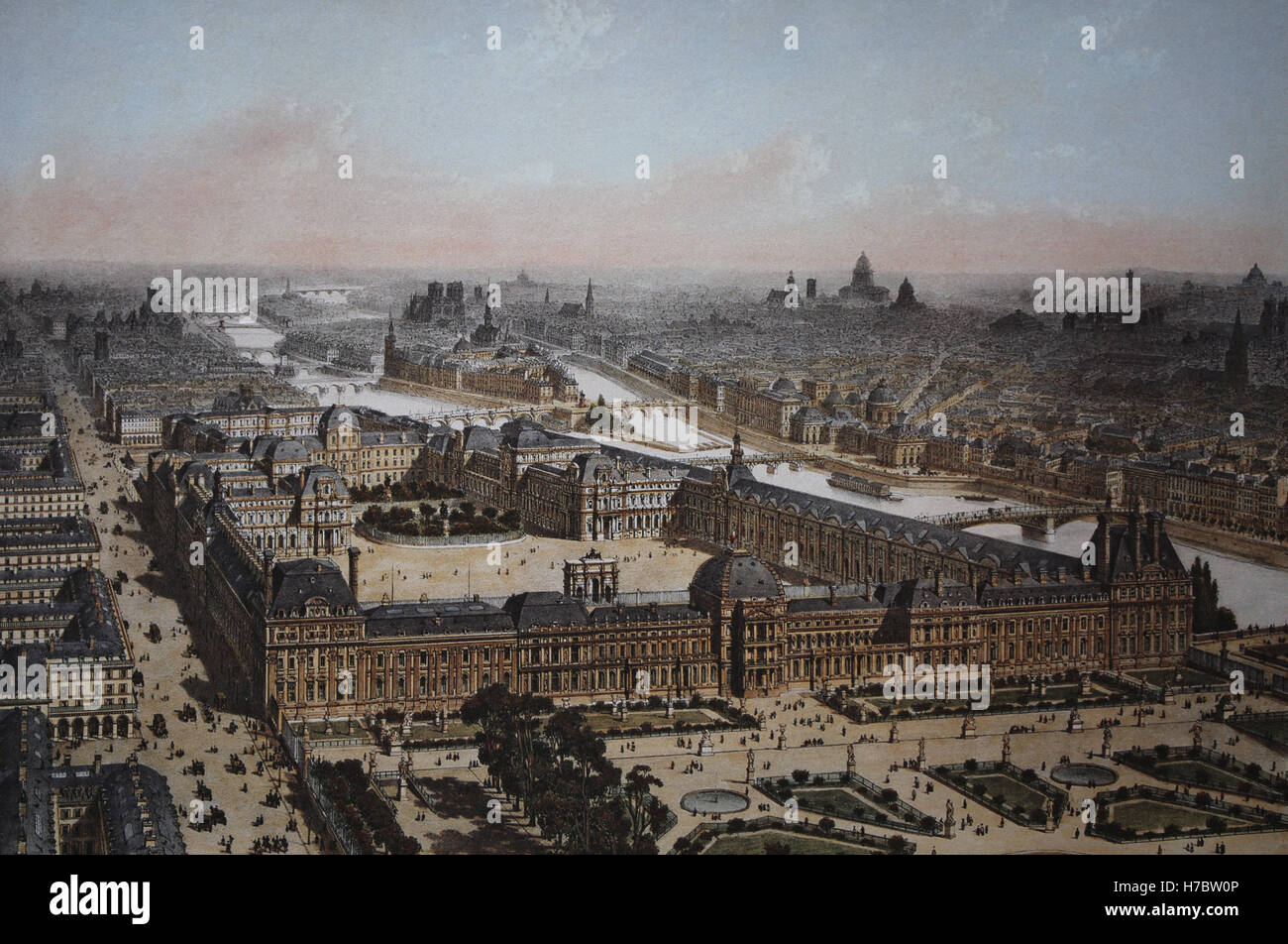 Louvre Engraving High Resolution Stock Photography And Images Alamy