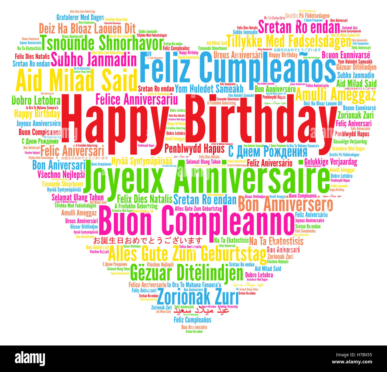 English birthday greetings stock photos english birthday greetings happy birthday in different languages stock image m4hsunfo