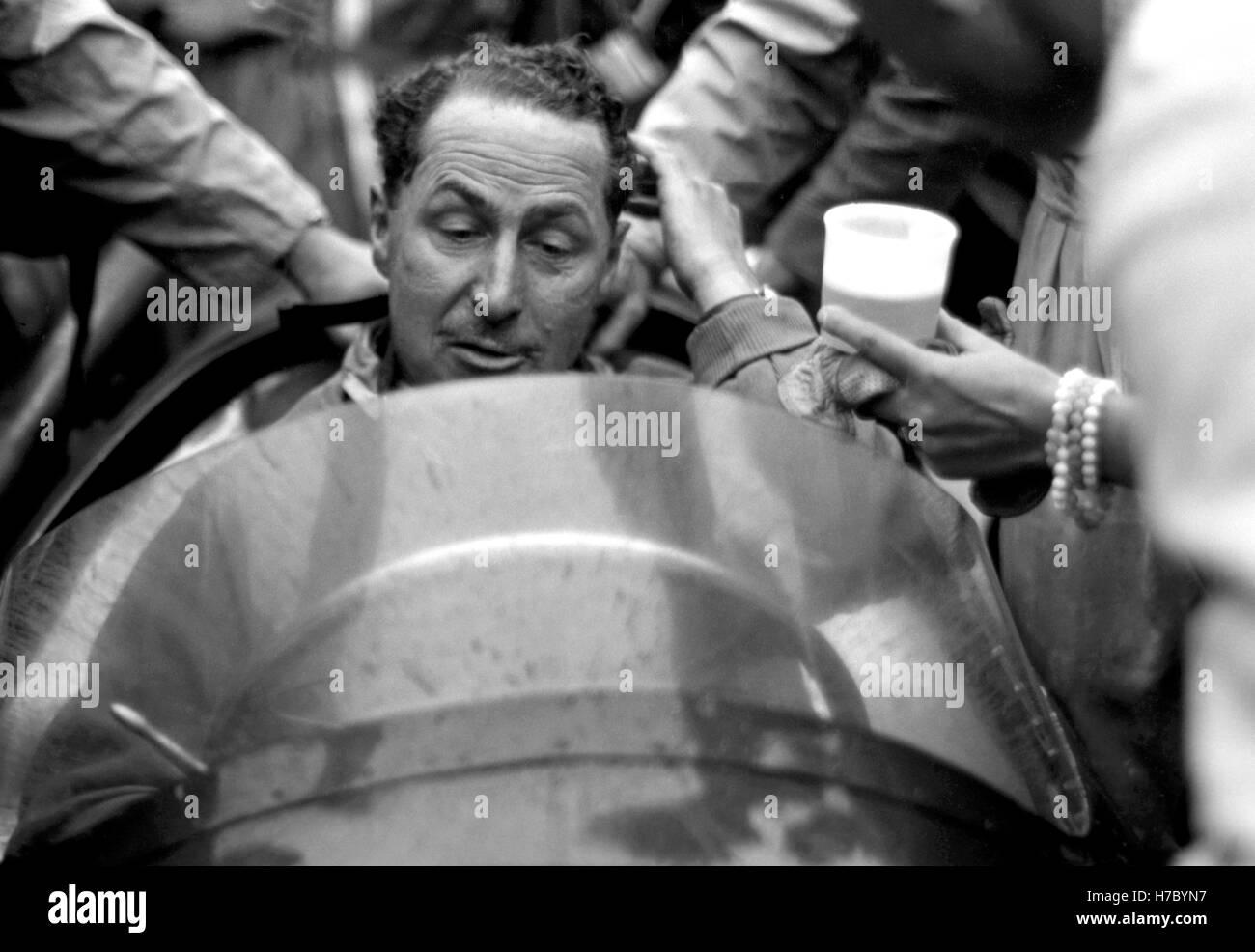 1956 Jack Fairman motor racing driver British GP Silverstone UK - Stock Image