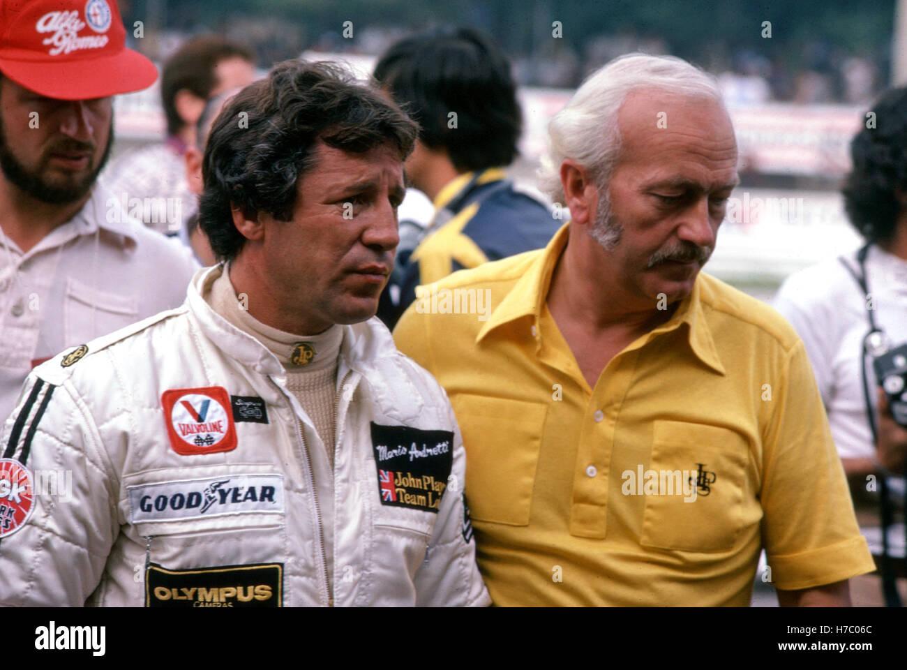 1978 Mario Andretti and Colin Chapman - Stock Image