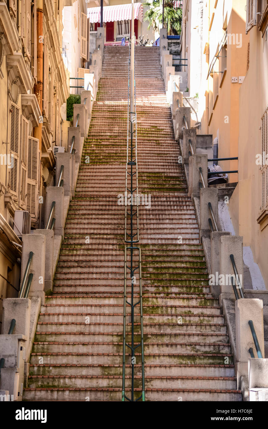 Steep Stairs, Monaco   Stock Image