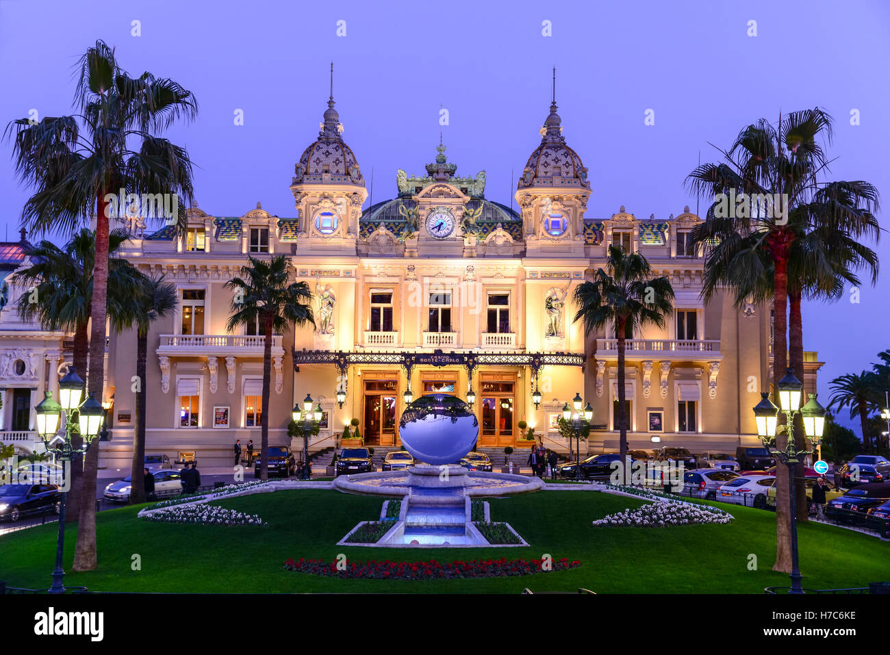 Casino De Monte Carlo >> Casino De Monte Carlo At Night Monaco Stock Photo