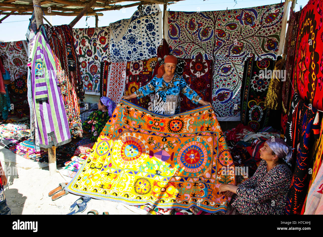 Urgut Market,Color,Colourful,Bazaar Close to Samakand,The Golden Road to Samaquand,The Silk Road,Uzbekistan,Central - Stock Image