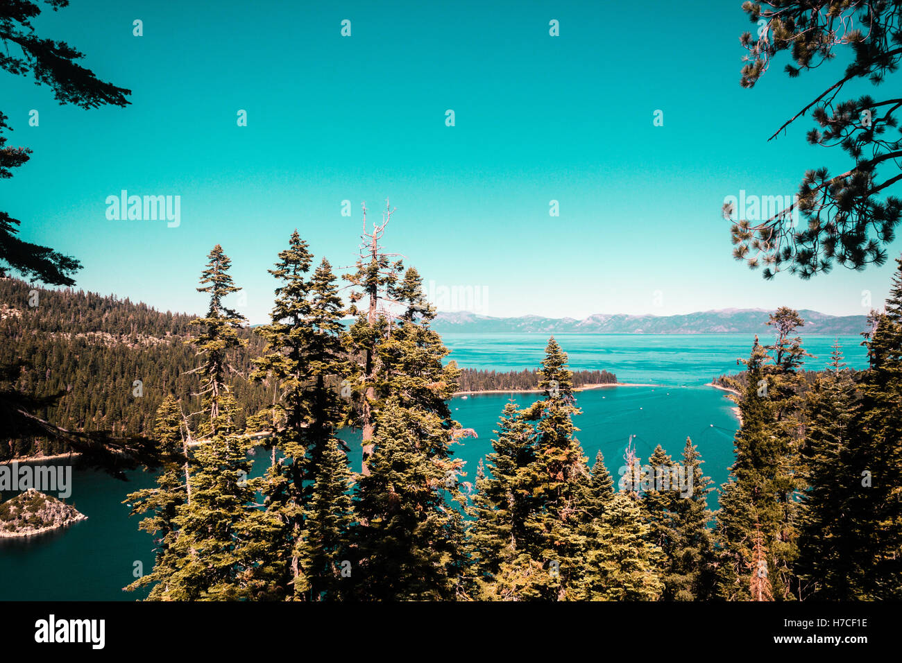 Photo of Emerald Bay and Lake Tahoe - Stock Image