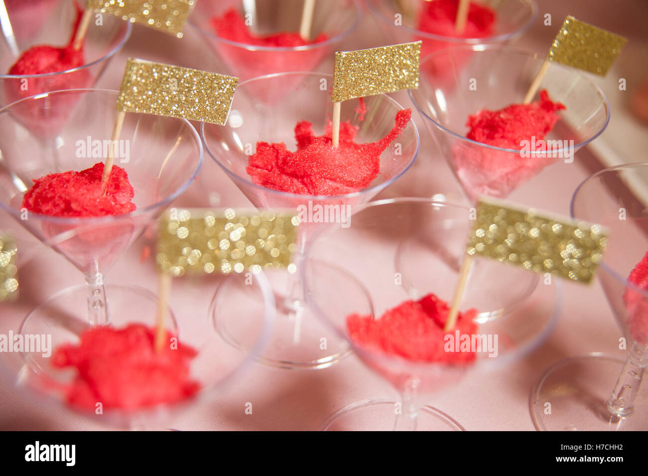 Party Desserts and Birthday Celebration. Sweets for Kids Stock Photo ...