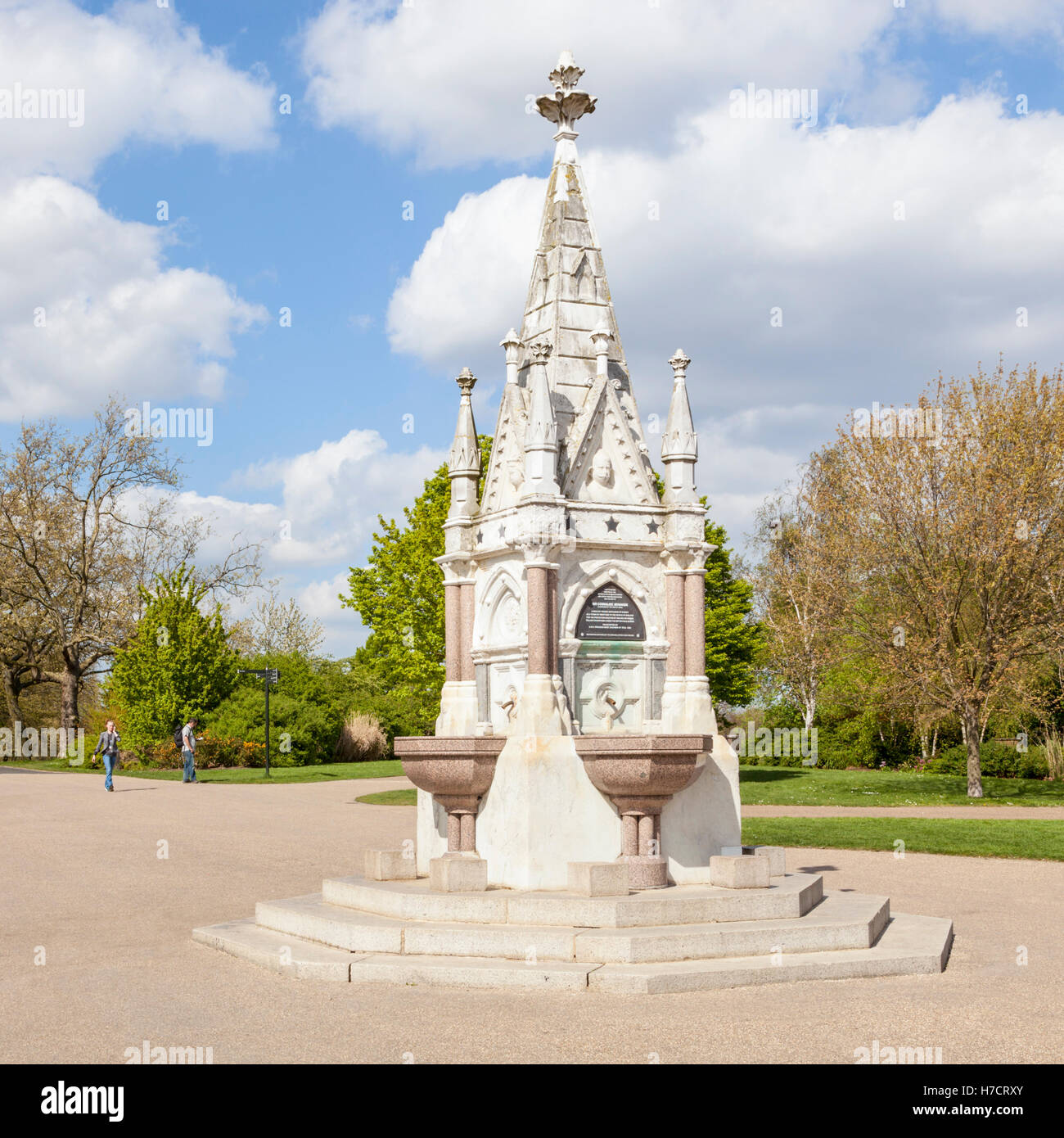 The Ready Money drinking fountain on Broad Walk at Regents Park, London, England, UK - Stock Image