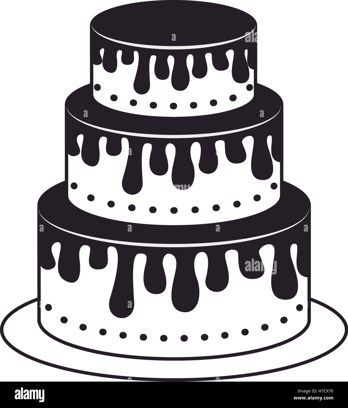 Cake White Background