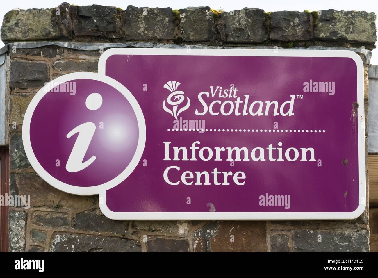 icentre - Visit Scotland Information Centre sign - Stock Image